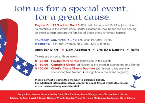 WTC Benefit Event Invite