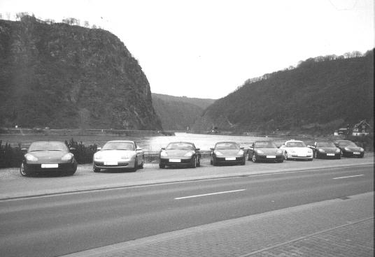 911's along the banks  of the Rhein