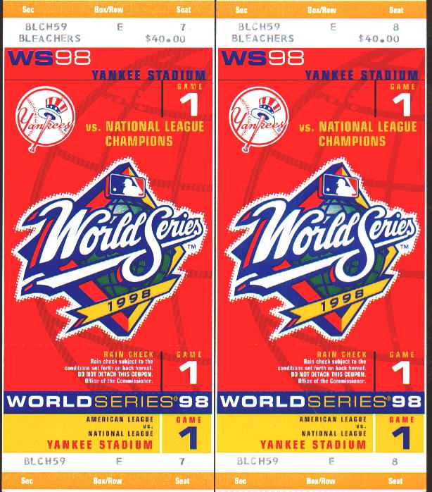 World Series Yankee tickets