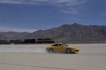 Porsche in the desert
